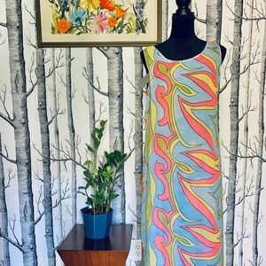 NWT Boho Rainbow Swirl Floral Reversible Dress